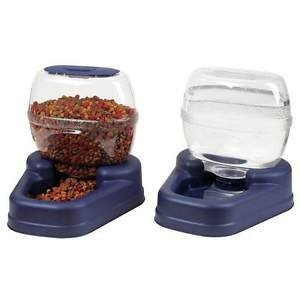 LARGE AUTOMATIC DOG FEEDER DINER & WATER DISPENSER HOLD 13 LBS FOOD 3 GALS WATER