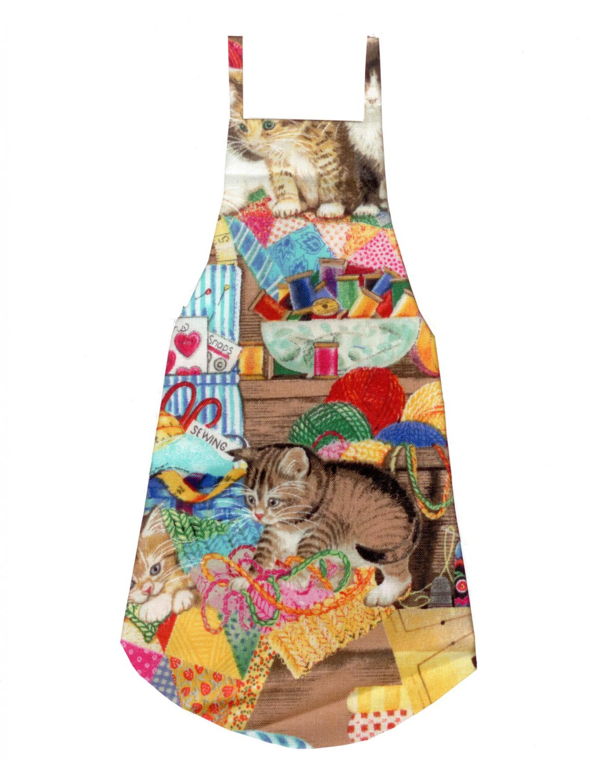 Full Length Adult Apron - Curious Kittens
