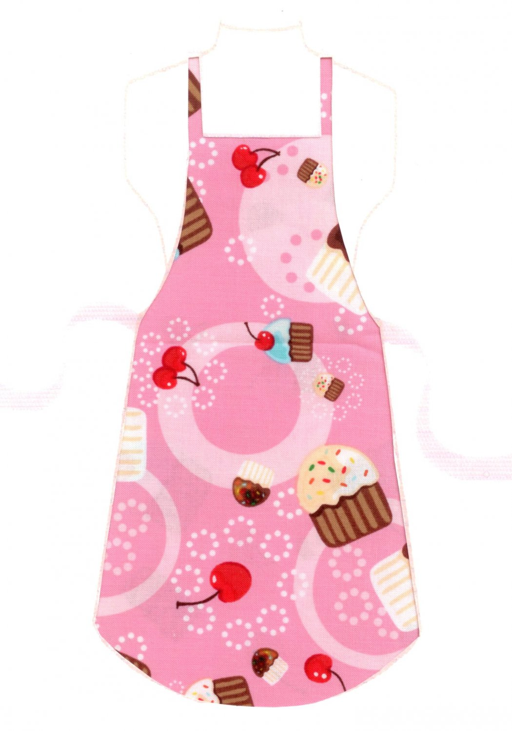 Full Length Adult Apron - Cupcakes & Sprinkles