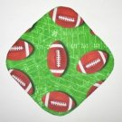 "8"" Hot Pot Pad/Pot Holder - FOOTBALLS ON GREEN"
