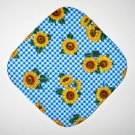 "8"" Hot Pot Pad/Pot Holder - BLUE CHECK SUNFLOWERS"
