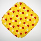 "8"" Hot Pot Pad/Pot Holder - LADYBUGS ON YELLOW"
