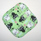 "** NEW ITEM ** 8"" Hot Pot Pad/Pot Holder - BLACK & WHITE CATS - All Handmade"