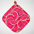 "8"" Hot Pot Pad/Pot Holder with Hanger - JUICY WATERMELON - All Handmade"