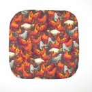 """** NEW ITEM ** 8"""" Hot Pot Pad/Pot Holder - BROWN ROOSTERS"""
