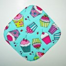 "** NEW ITEM ** 8"" Hot Pot Pad/Pot Holder - CUPCAKES ON GREEN"