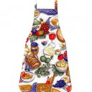 ** NEW DESIGN ** Child Size Apron - PICNIC BASKET GOODIES - All Handmade