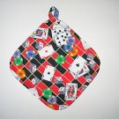 "8"" Hot Pot Pad/Pot Holder with Hanger - CASINO GAMES  - All Handmade"