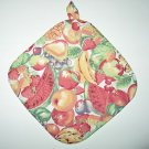 "8"" Hot Pot Pad/Pot Holder with Hanger - MIXED FRUIT - All Handmade"