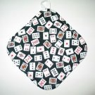 "8"" Hot Pot Pad/Pot Holder with Hanger - PLAYING CARDS - All Handmade"