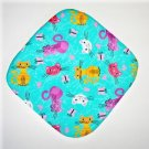 "** NEW ITEM ** 8"" Hot Pot Pad/Pot Holder - CATS ON AQUA - All Handmade"