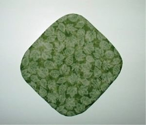"** NEW ITEM ** 8"" Hot Pot Pad/Pot Holder - GREEN LEAVES"