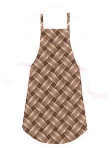 Full Size Adult Apron - BROWN BASKETWEAVE - All Handmade