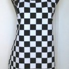 Full Length Adult Apron - BLACK & WHITE CHECKS - All Handmade