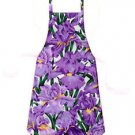 Child Size Apron - All Handmade - PURPLE IRIS