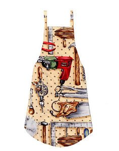*** NEW DESIGN *** Full Size Adult Apron - TOOLS - All Handmade