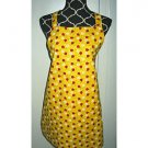 Full Size Adult Apron - LADYBUGS ON YELLOW - All Handmade
