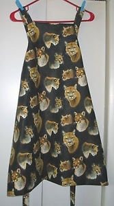 *** NEW DESIGN *** Full Size Adult Apron - BIG CAT - All Handmade