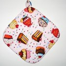 "8"" Hot Pot Pad/Pot Holder with Hanger - SWEETS - All Handmade"