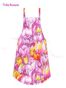 *** NEW ITEM ***Full Size Adult Apron - TULIP BOUQUET - All Handmade