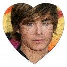 Zac Efron Heart Jigsaw Puzzle