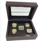San Francisco 49er's Super Bowl Replica Championship Ring Set With Mahogany Display Case