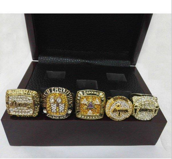 KOBE BRAYNT 2000/2001/2002/2009/2010 LA Lakers Basketball Championship Replica Rings