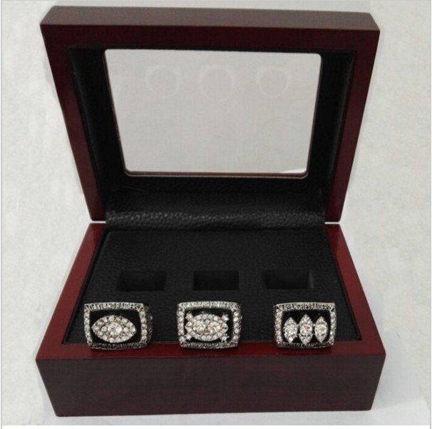 Oakland Raiders Super Bowl Replica Championship Ring Set 76/80/83