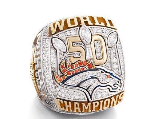 Von Miller/Denver Broncos 50th Super Bowl Championship RIng Sizes 6-15