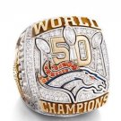 Von Miller/Denver Broncos 50th Super Bowl Championship RIng Sizes 6-15