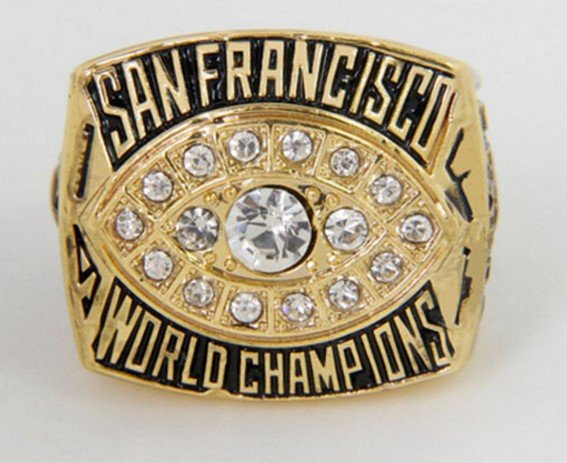 High Quality 1981 San Francisco 49ers Super Bowl Championship Replica Ring-Free Shipping