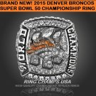 Peyton Manning/Denver Broncos Commemorative Bowl Championship RIng Sizes 10-12
