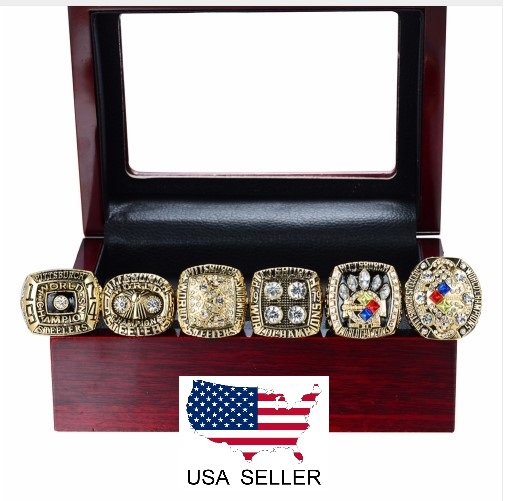 Pittsburgh Steelers 6 Ring Super Bowl Champions Replica Ring Set