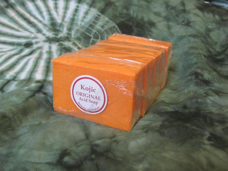 Skin lightening,kojic acid soap, skin whitening soap bar 125gm, with papaya