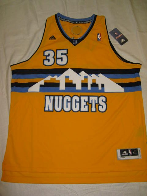Kenneth Faried Denver Nuggets Gold Retro Large Adidas Swingman Jersey