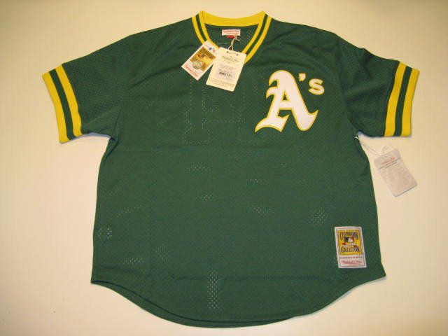 Reggie Jackson Oakland A's 2XL Mitchell & Ness 1987 Authentic BP Jersey