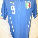 Mario Balotelli Italy Men's XL Blue Puma Soccer Jersey
