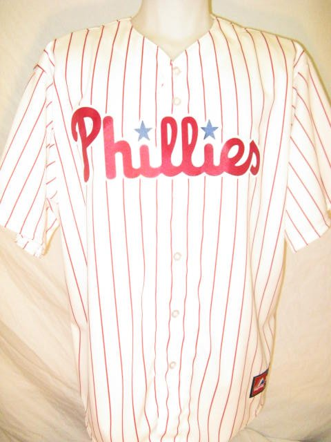 Philadelphia Phillies Majestic Men's Large Home Replica Jersey