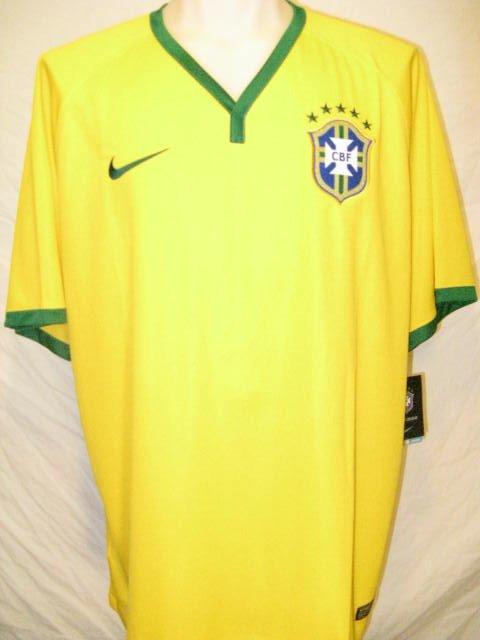 Brazil Nike Dri-Fit Men's 2XL Yellow Soccer Jersey