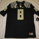 Oregon Ducks Black #8 2015 Playoff Commemorative Men's Large Jersey