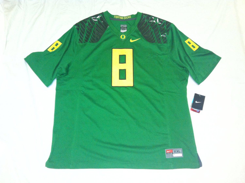 Oregon Ducks Candy Green 2XL #8 (Marcus Mariota) Nike Game Jersey