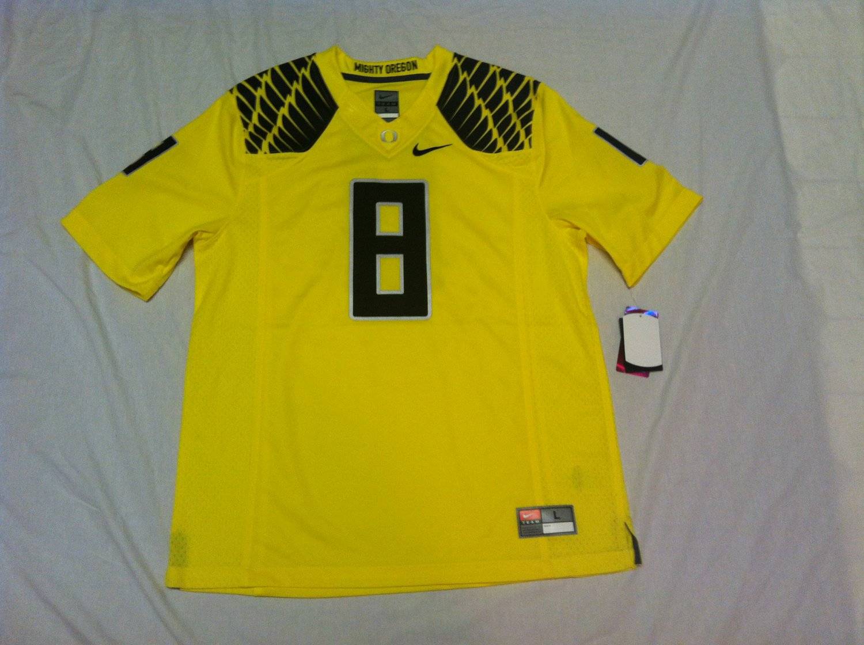 Oregon Ducks Yellow & Black #8 (Marcus Mariota) 3XL Nike Limited Jersey