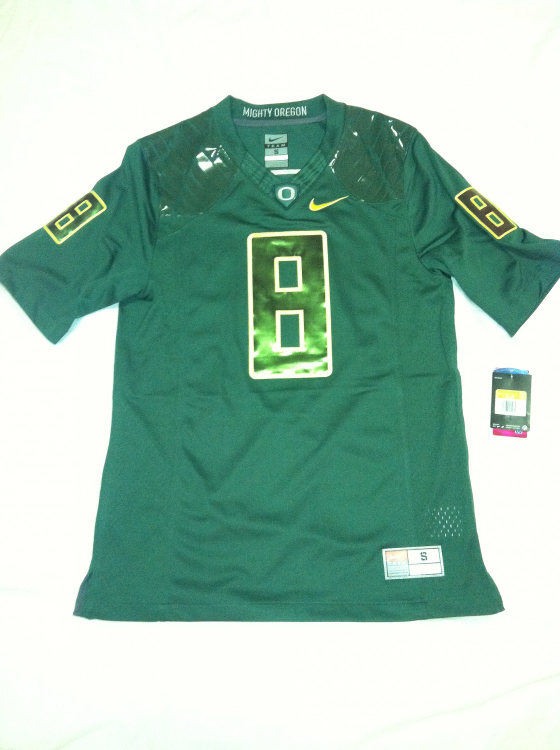 Oregon Ducks #8 (Marcus Mariota) Green-on-Green Large Nike Limited Jersey