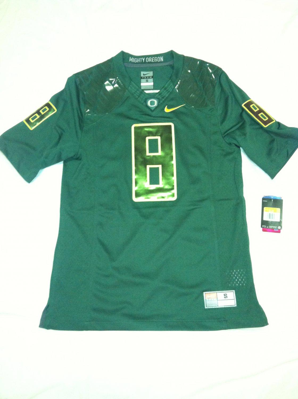 Oregon Ducks #8 (Marcus Mariota) Green-on-Green XL Nike Limited Jersey