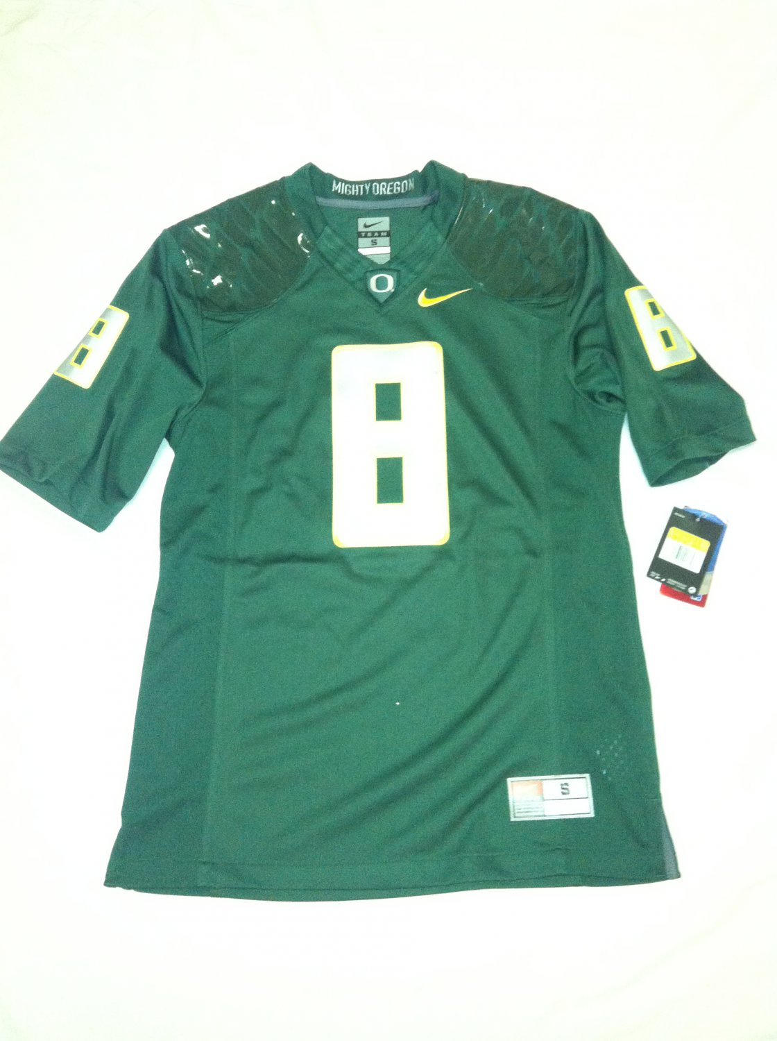 Oregon Ducks #8 (Marcus Mariota) Green Small Nike Limited Jersey