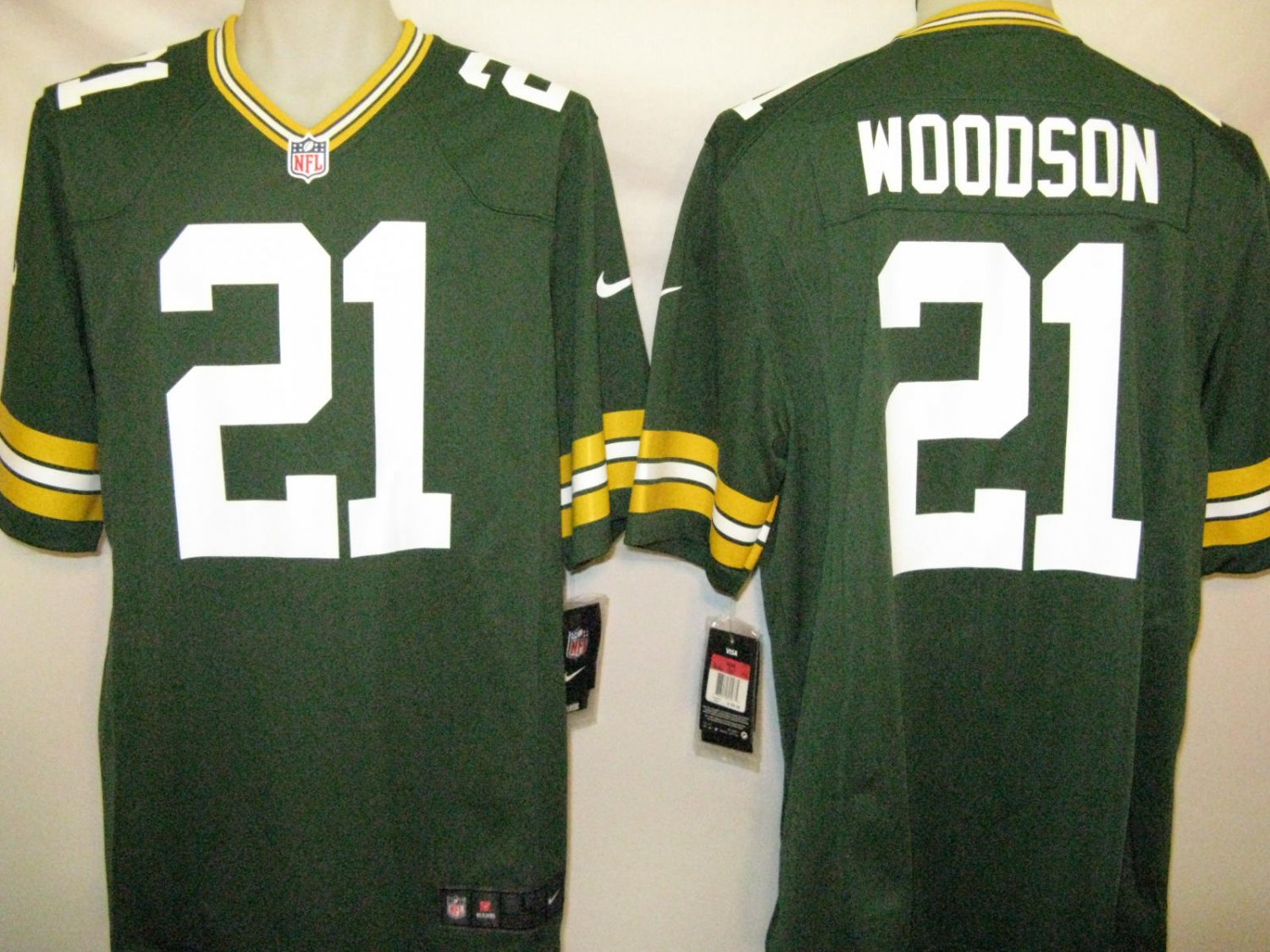 Charles Woodson Green Bay Packers 2XL Nike Game Jersey