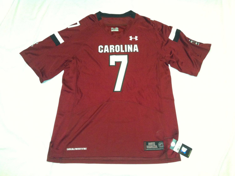 South Carolina Gamecocks Maroon #7 (Jadaveon Clowney) XL Under Armour Replica Jersey