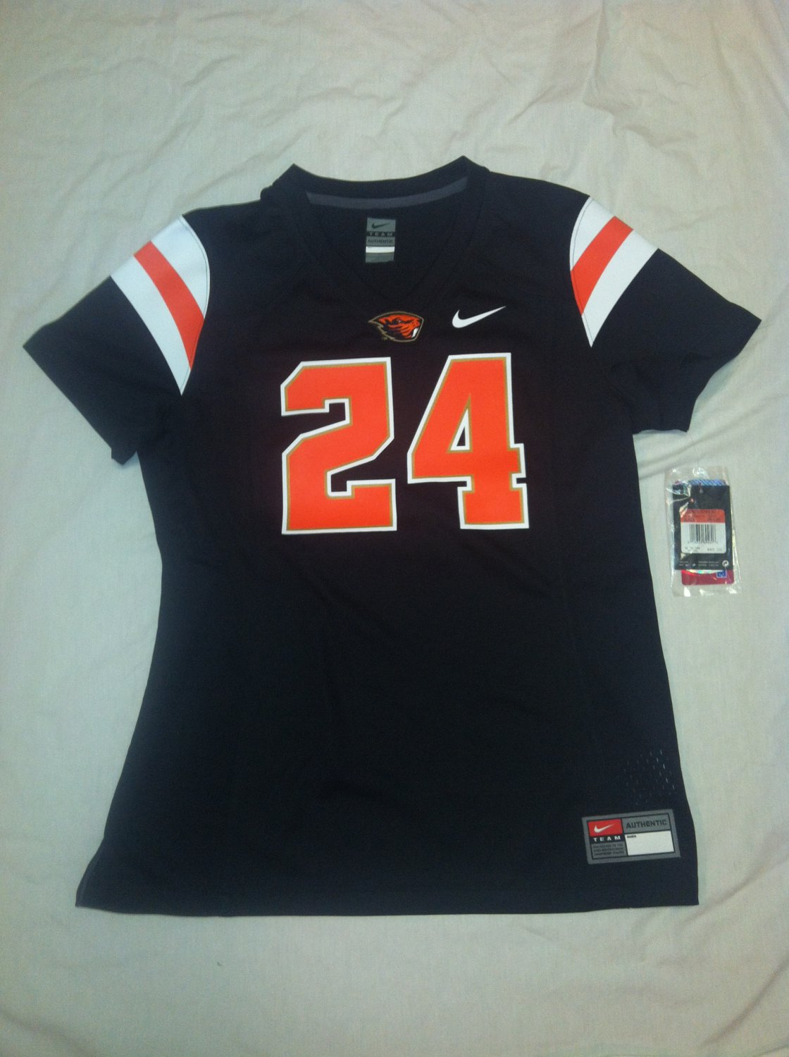 Oregon State Beavers Black #24 Women's Large Nike Game Jersey