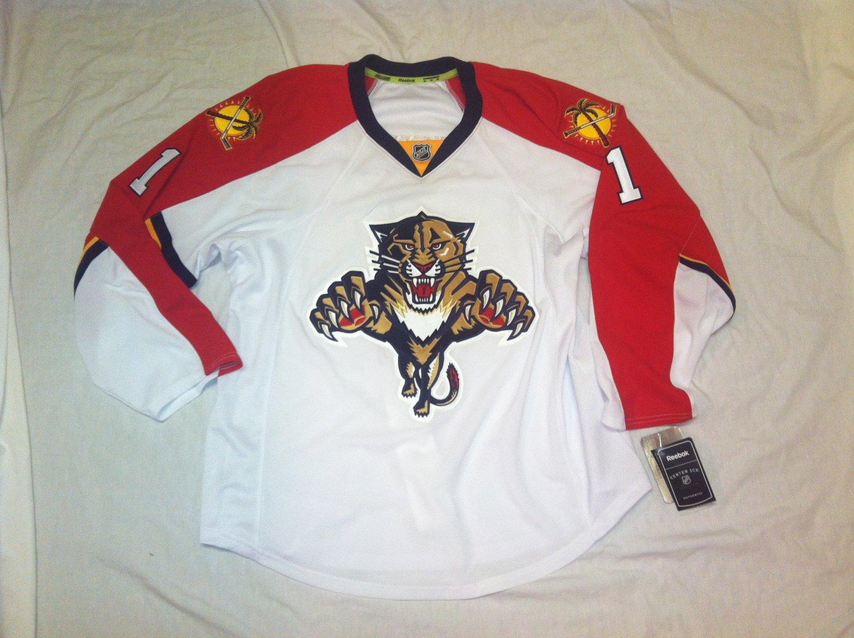 Roberto Luongo Florida Panthers White Road 2015 Reebok Authenic Size 56 Jersey