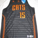 Kemba Walker Charlotte Bobcats 2XL Black Adidas Groove Swingman Jersey